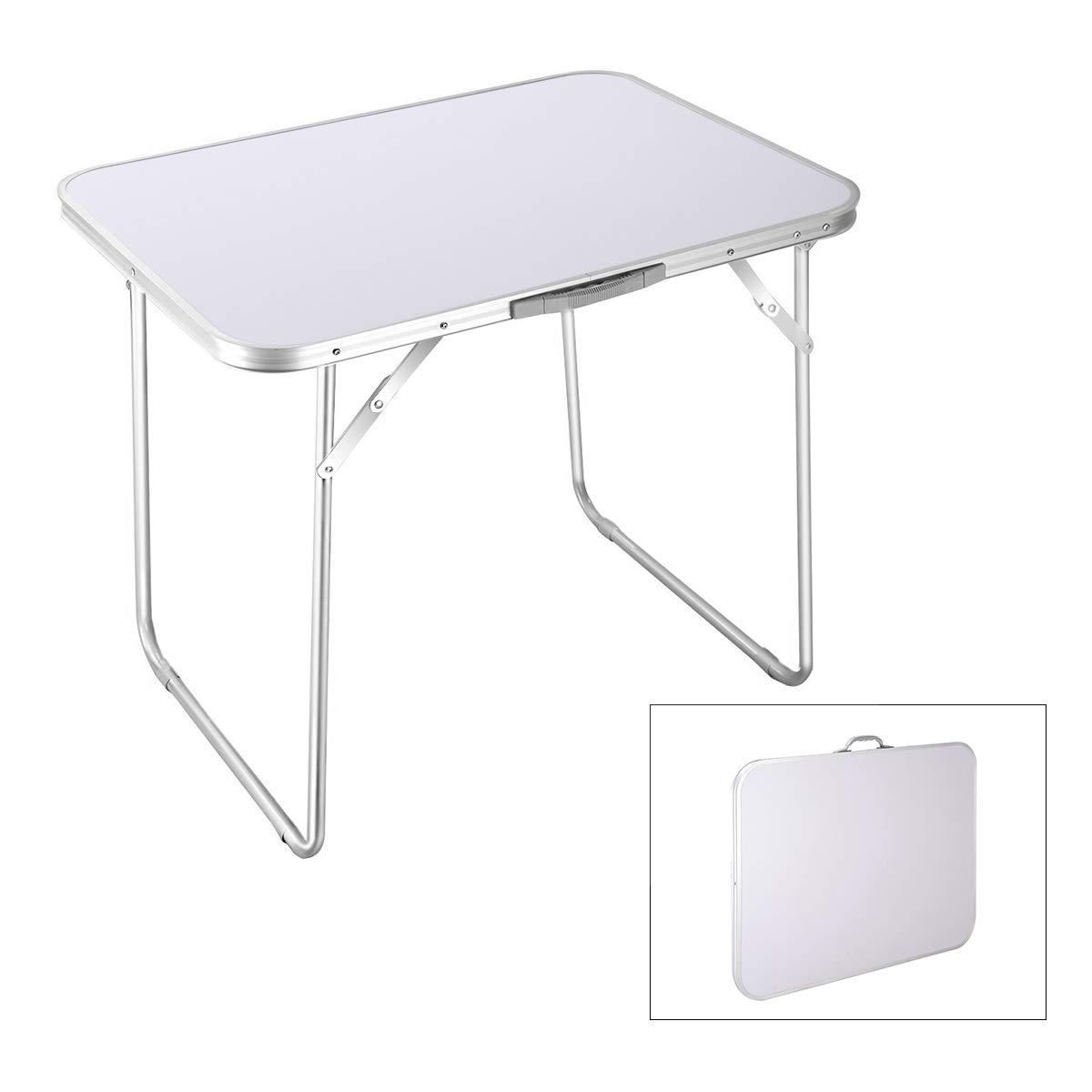Amazon.com: Goplus Portable Folding Table Camping Picnic 4 Person Aluminum  Table Indoor Outdoor Dining Party Picnic Folded Table: Kitchen U0026 Dining