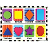 Melissa and Doug 3730 Shapes Wooden Chunky Puzzle, 8 Pieces