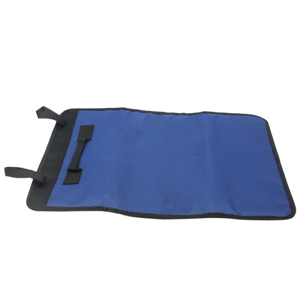 Oxford Roll Up Tools Storage Bag 22-Pocket Spanner Organizer Tidy Bag Red