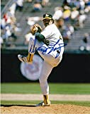 DENNIS LAMP OAKLAND A'S ACTION SIGNED 8x10 - Autographed MLB Photos
