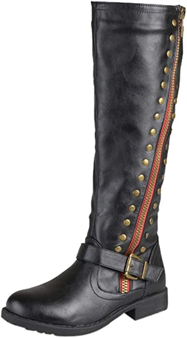 Gibobby Booties for Women with Heel,Mid