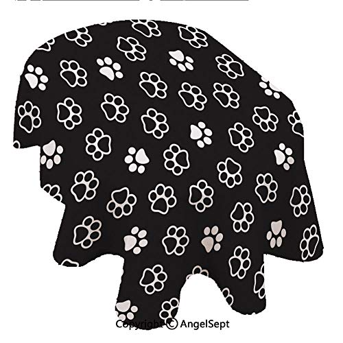 Covers for The Home Deluxe Elastic Edged,Dog Paw Seamless Paern Ca Paw ecor Foo prin Kien Puppy Wallpaper isolaed Background 54x72inch,Backed Vinyl Fitted Table Cover - Medallion Pattern - Oval