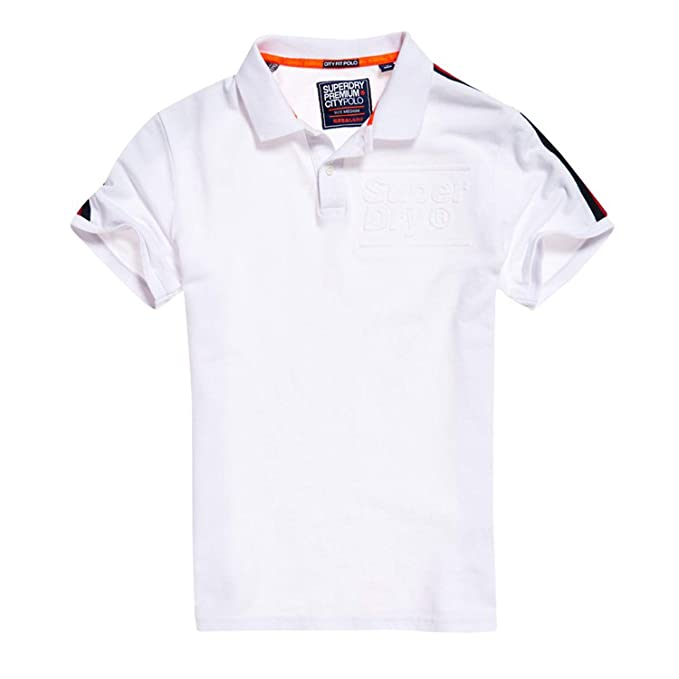 Superdry Polo Blanco Hombre Pique Fit (S): Amazon.es: Ropa y ...