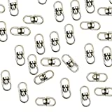 Mike Home Double-End Design Swivel Key Ring Connectors Eye to Eye Swivel Ring Backpack Accessories Pack of 100 (Large)