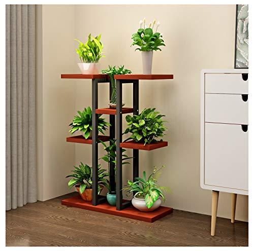 PANGU-ZC - Plant Stands Flower Shelf Multi-Storey Indoor Space Economy Balcony Wall Wrought Iron Floor Rack Living Room Flower Stand (Color : C)