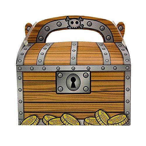 Tytroy Pirate Treasure Chest Goodie Candy Box Decoration Party Favor (1 Dozen)