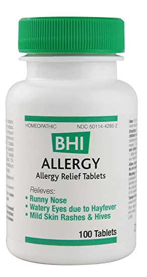 BHI - Allergy, 100 tablets: Amazon co uk: Health & Personal Care