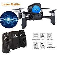 Mini Drone Quadcopter,Remote Control Pocket RC Drone(Headless Mode 2.4Ghz Nano LED,Altitude Hold,One Key To Return,3D Roll MAV RTF) Good for Kinder Beginners Gift by Crazepony