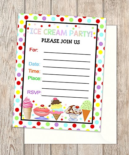 ice cream birthday invitations - 8