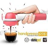 【正規代理店販売】小型エスプレッソマシン Handpresso POP(ハンドプレッソ ポップ)ピンク - カフェポッド・コーヒー粉抽出可能 電気不要 - アウトドア・オフィス