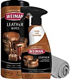 Weiman Leather Cleaner Kit - Non-Toxic Restores Leather Surfaces - Ultra Violet Protectants Help Prevent Cracking or Fading of Leather Furniture, Car Seats, Shoes