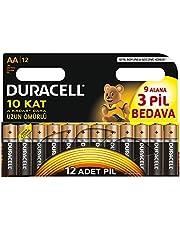 Duracell LR6/MN1500 Alkalin AA Piller, 12'li paket