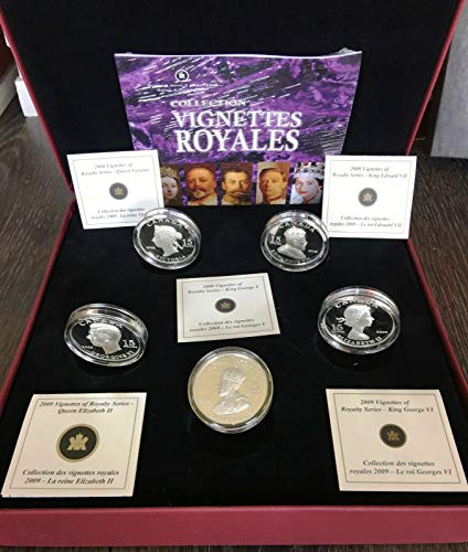 2009 $15 VIGNETTES OF ROYALTY STERLING SILVER 5 COIN SET IN DISPLAY CASE COAS