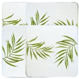 Corelle Coordinates by Reston Lloyd Square Gas Stovetop Burner Covers, Set of 4, Bamboo Leaf