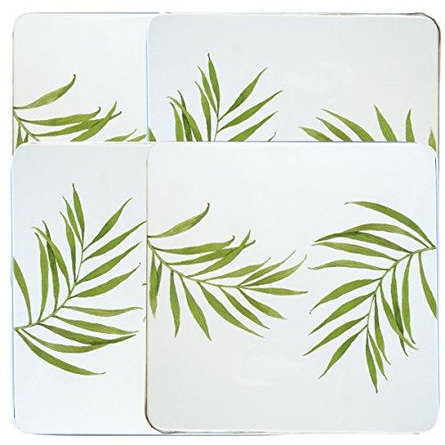 Stove Burner Cover Set - Corelle Coordinates by Reston Lloyd Square Gas Stovetop Burner Covers, Set of 4, Bamboo Leaf