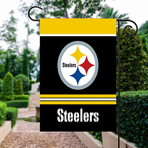 Pittsburgh Steelers Store (RongJ- store NFL Champions Double Sided Garden Flag (Pittsburgh)
