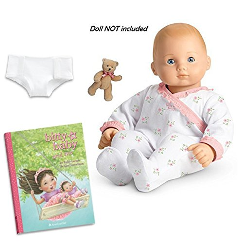 American Girl Bitty Baby's Sleeper and Bear Set Includes Book fits Bitty Twin Too!