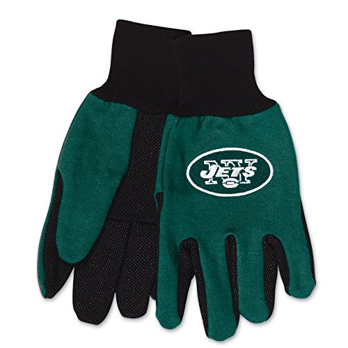 Wincraft NFL New York Jets Two-Tone Gloves, 2-Pack, Green/Black