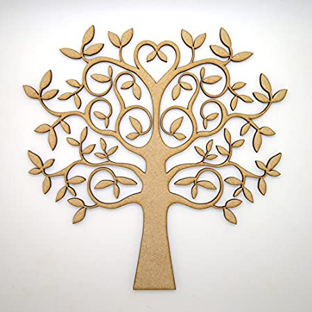Mdf Tree Shape For Crafts With Added Love Perfect For Family Tree