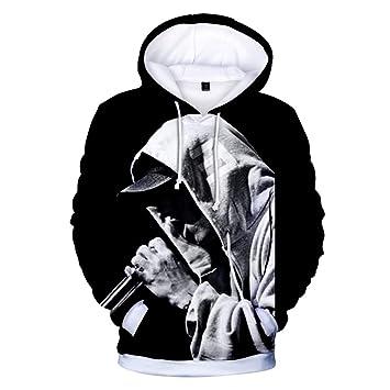 Lbzd Cappuccio Moda Felpe Con Felpa Stampata Eminem 3d Rappeur 54LRj3Aq