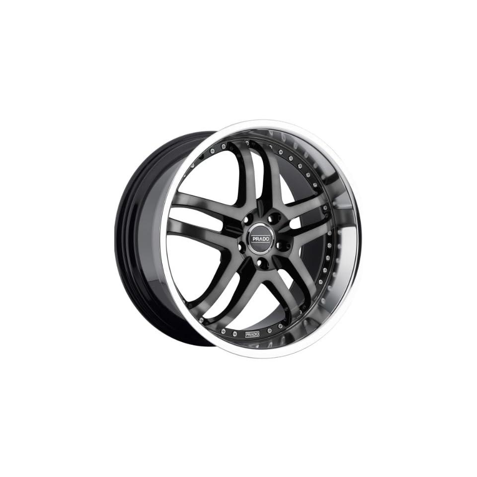 Prado Dante 20 Machined Black Wheel / Rim 5x115 & with a 40mm Offset and a 73.1 Hub Bore. Partnumber 901 20090BTML40