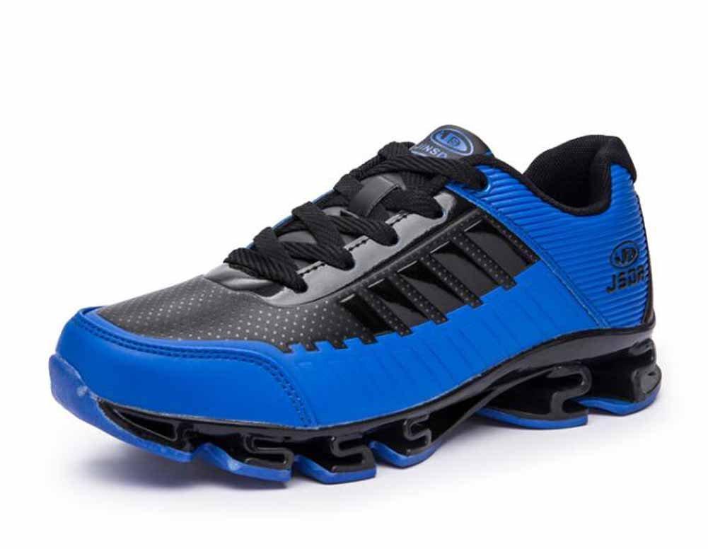 Hombres Respirable Correr Zapatos 2018 Primavera Nuevo Colchón De Aire Atlético Zapatos Entrenador ( Color : Blue , Size : 39 ) 39|Blue