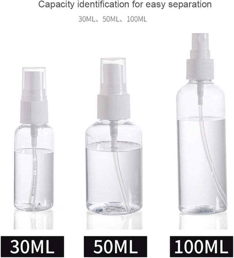 Lot de 2 vaporisateurs vides transparents en plastique rechargeables et rechargeables