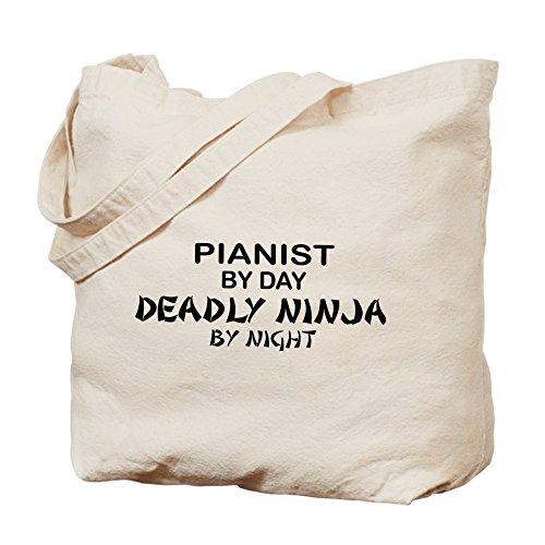 Cafepress–Pianist Deadly Ninja–Borsa di tela naturale, tessuto in iuta