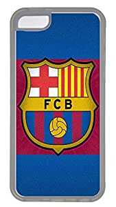iPhone 5C Case,Logo Series Customize Ultra Slim Sports Barcelona Hard Plastic PC Clear Case Bumper Cover for iPhone 5C