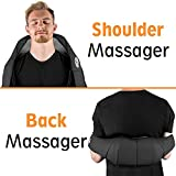 Shiatsu Massage - Neck Shoulder And Back Massager with Heat - Kneading Massage - Pain Relief And Relaxing  - Portable & Easy To Use- With Velcro Strap- Home & Car Adapter