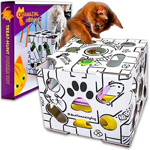 Cat Amazing Sliders – Interactive Treat Puzzle Cat Toy – Active Food Puzzle Feeder 2
