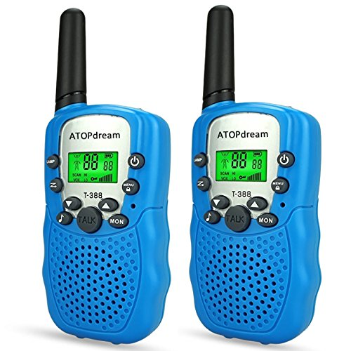 TOP Gift Toys for 3-12 Year Old Kids, Handheld Walkie Talkies for Kids 2 Mile Range Hallowee Gifts for Boys Girls Kid 2018 Christmas Gifts for Kids Boys Girls 3-12 Stocking Fillers Blue TGDJ02