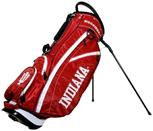 Team Golf NCAA Indiana Hoosiers Fairway Golf Stand Bag, Lightweight, 14-way Top, Spring Action Stand, Insulated Cooler Pocket, Padded Strap, Umbrella Holder & Removable Rain Hood