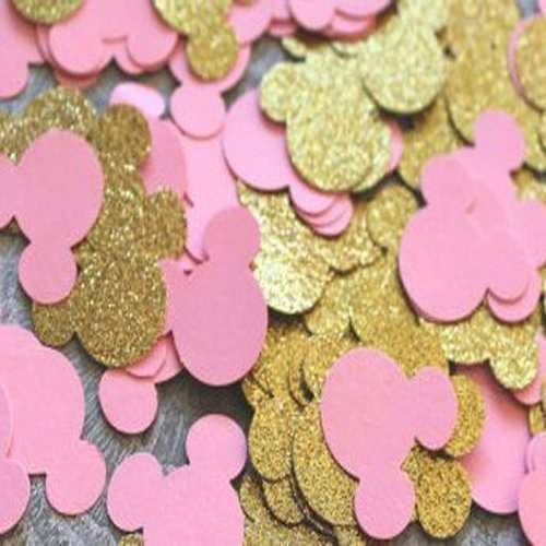 Amazon Pink And Gold Minnie Mouse Head Confetti For 1st Birthday Baby Shower Handmade