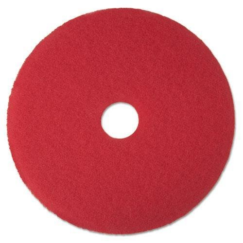 "3M Red 17"" Floor Buffer Pads - Case = 5"