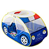 Anyshock Playhouse for Kids Tent, Police Car Tent for 1-6 Year Old Children Foldable Pop Up Play House Toddler Indoor Outdoor Boys Girls Baby Gifts Toys (no Balls)