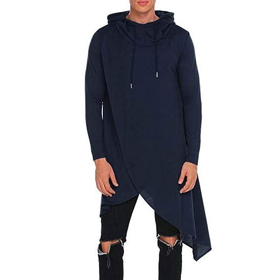Sylar Abrigos Para Hombres En Rebajas, Moda Color Sólido con Capucha Manga Larga Suelto Sudadera Casual Irregular Pullover Rompevientos Outwear: Amazon.es: ...