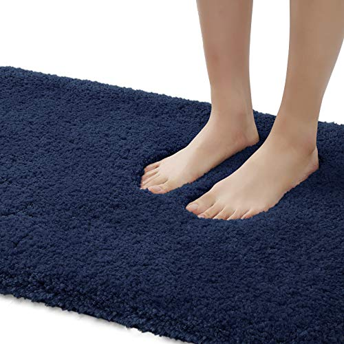 DEXI Bathroom Rug Mat, 24×16, Extra Soft and Absorbent Bath Rugs, Machine Wash Dry, Non-Slip Carpet Mat for Tub, Shower…