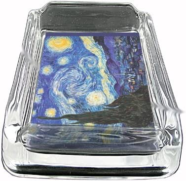 Vincent Van Gogh Starry Night Glass Square Ashtray D-141