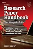 Research Paper Handbook, James D. Lester and James D. Lester, 1596470763