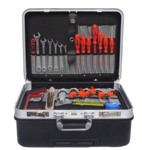 Werkzeugkoffer mit Rollen + VDE Werkzeugsatz Elektro 21tlg - Elektriker Werkzeug