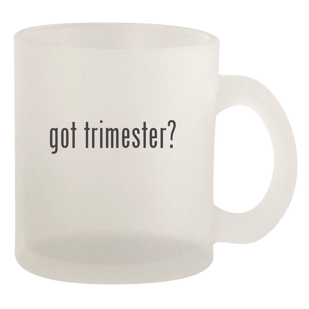 got trimester? - Glass 10oz Frosted Coffee Mug