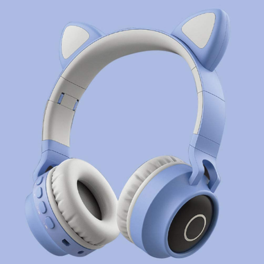 Milisten Stereo Gaming Headset Cat Ear Noise Reduction Headphones Lightweight Computer Gaming Headphone Self Adjusting Gamer Headsets Pink