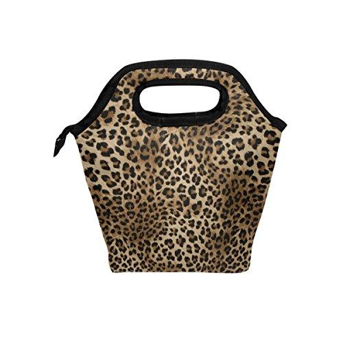 JOYPRINT Lunch Box Bag, Animal Tiger Leopard Print Insulated Cooler Ice Lunchbox Tote Bag Handbag for Men Women Adult Boys Girls