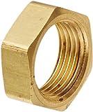 EATON Weatherhead 0102X6 Bulkhead Nut, CA360 Brass, 3/8