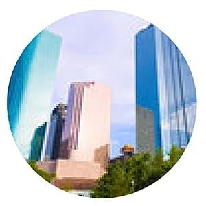alfombrilla de ratón Horizonte de Houston en el parque Sam Houston en Texas, EE.UU. - ronda - 20cm