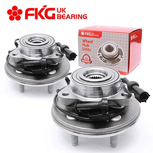 FKG 515078 Front Wheel Bearing Hub Assembly for 2006-2010 Ford Explorer 2007-2010 Ford Explorer Sport Trac 2006-2010 Mercury Mountaineer 5 Lugs W/ABS, Set of 2