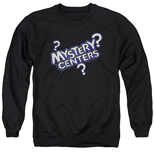 Dubble Bubble Mystery Centers Unisex Adult Crewneck Sweatshirt for Men and Women, Small Black
