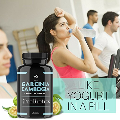 A.S. Garcinia Cambogia Probiotic Pills for Weightloss [3 Pack] - Best All-Natural Detox Remedy For Leaky Gut - Includes Green Coffee Bean for Complete Diet and Health - #1 Starter Kit or Gift.