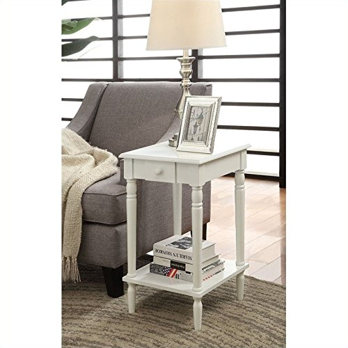 Convenience Concepts French Country End Table, White Country French Country End Table